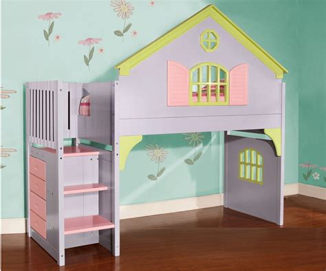 0300 Doll House Stair Stepper Loft Bed Discovery World Doll House Bunk Beds