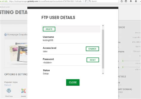 wordpress tutorial godaddy how to create ftp user with limited access godaddy