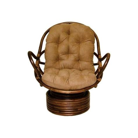 Rattan Swivel Rocker With Cushion At Brookstone Buy Now Rattan Swivel Rocker Chair Cushions
