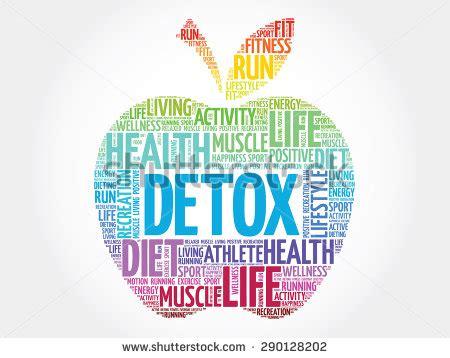 Detox Clip by Colorful Detox Apple Word Cloud Concept Stock Vector