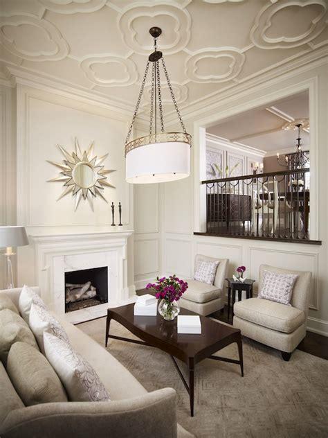 Gorgeous Home Decor quatrefoil ceiling transitional living room khachi