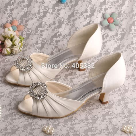 Wedding Shoes Low Heel Ivory by Wedopus Drop Shipping 2015 Kitten Heel Low Heel Pumps