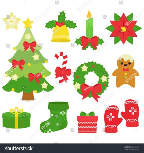merry christmas things white background stock vector