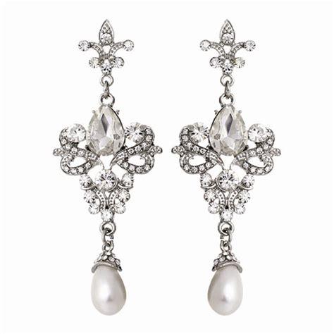 chandelier earrings uk vintage chandelier wedding earrings zaphira bridal