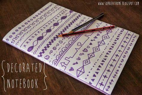 craft pattern notebook decorated notebook craft ideas pinterest decorated