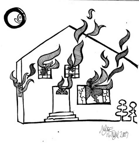 coloring page of a house on fire image gallery house on fire drawing
