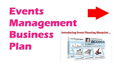 events company business plan template events management business plan