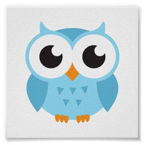 imagenes de buhos inteligentes cute blue cartoon baby owl classic round sticker dibujo