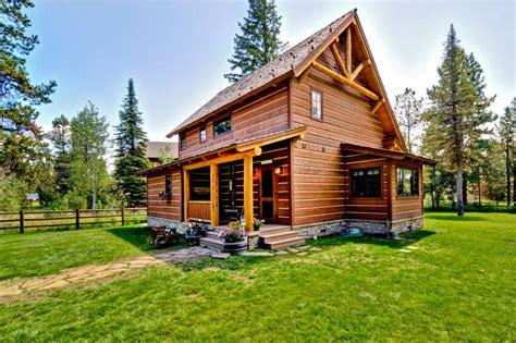 craftsman cabin cabin craftsman log house plan 43212