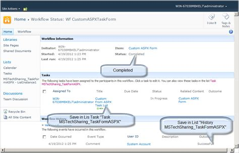 sharepoint 2010 workflow status codes create workflow with custom task form aspx page in