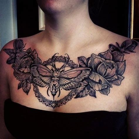 girl chest tattoos best 25 chest ideas on