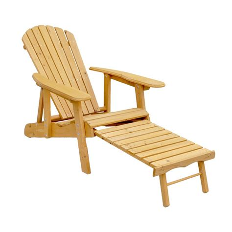 Hayneedle Adirondack Chairs by Leisure Season Reclining Adirondack Chair With Pull Out