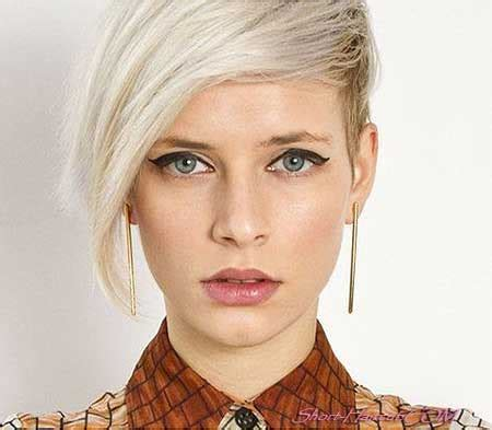 platinum pixi cut with brown highlights 35 short hair color ideas short hairstyles 2017 2018