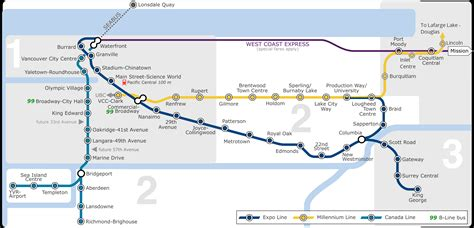 skytrain canada line map interactive vancouver skytrain map and guide