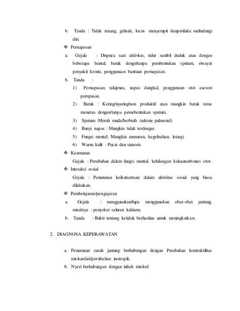format laporan asuhan keperawatan laporan pendahuluan asuhan keperawatan dengan gagal jantung