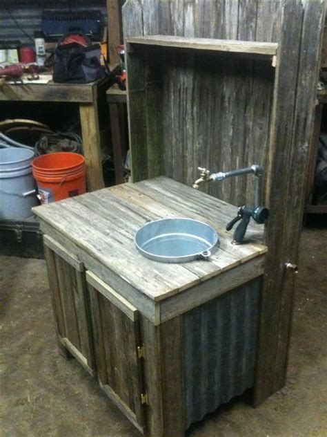 1000 ideas about outdoor sinks on rustic