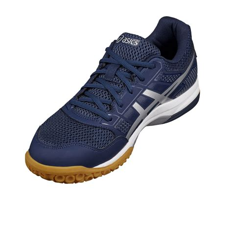 sport shoes asics asics gel rocket 8 mens blue squash indoor court sport