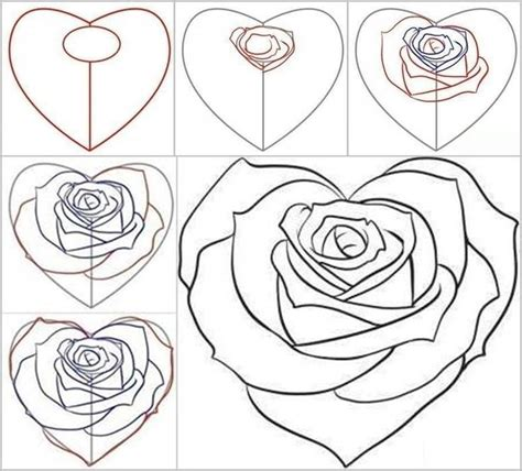 how to draw doodle roses how to draw a from a and drawings