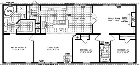 1600 Sq Foot House Plans 1600 To 1799 Sq Ft Manufactured Home Floor Plans