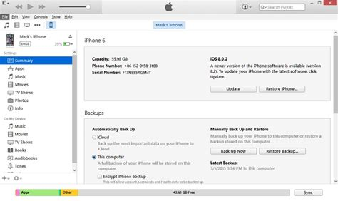 Itunes File Section by How To Restore Iphone From Itunes