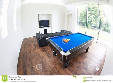 Sofa Pool Table Interior Of Room In Modern House Stock Image Image
