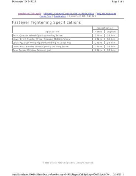 how to download repair manuals 1999 pontiac trans sport interior lighting 1999 pontiac trans sport service repair manual