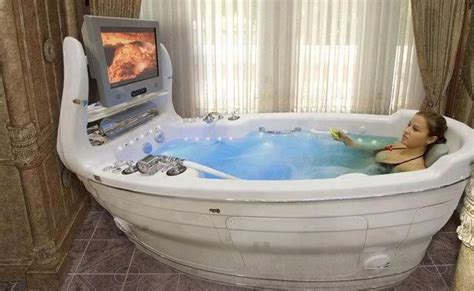 bathtub with tv strange custom bathtub spa flat screen tv mounted on end