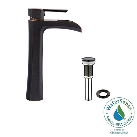 Vigo Bathroom Faucets Vigo Single Single Handle Vessel Bathroom Faucet In Matte Black Vg03007mb The Home Depot