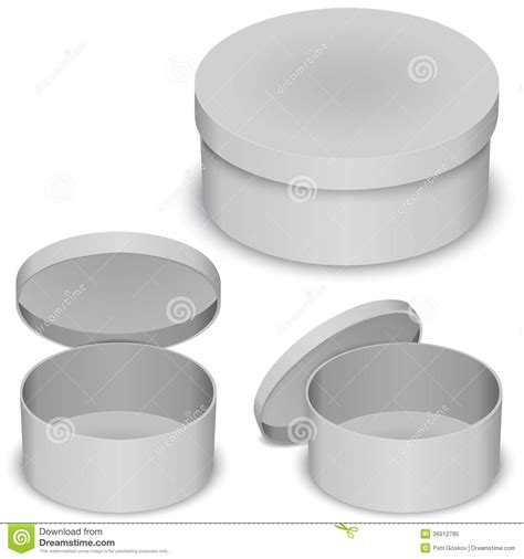 round box vector template stock vector image of open