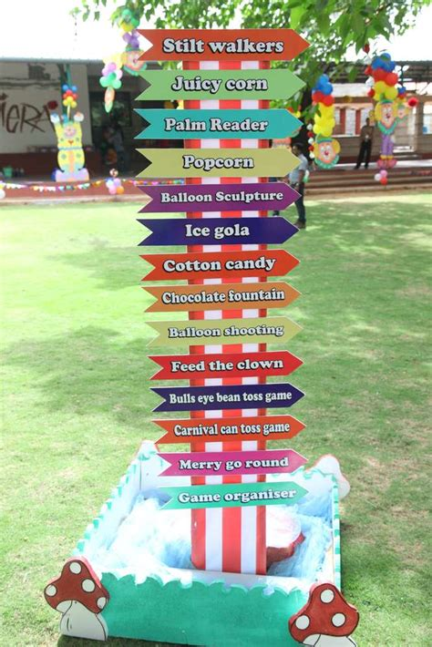 themed events jobs circus carnival birthday party ideas photo 12 of 46