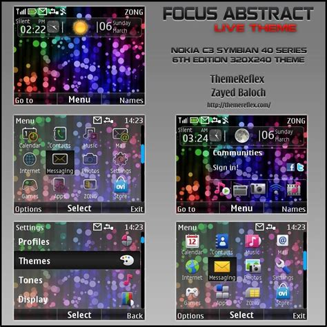nokia x2 o5 themes focus abstract theme for nokia c3 x2 01 themereflex