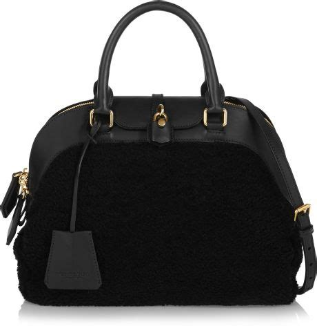 Nicky And Burberry Prorsum Tote by Burberry Prorsum Medium Shearling And Leather Tote In