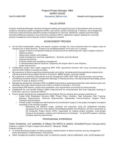 it project manager resume best resumes