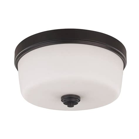 Bronze Flush Mount Ceiling Light Shop Canarm Jackson 15 75 In W Rubbed Bronze Ceiling Flush Mount Light At Lowes