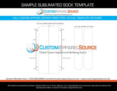 Sublimated Sports Apparel Custom Apparel Source Sock Sublimation Template