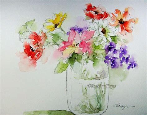 paintings of flowers watercolor prints by roseann