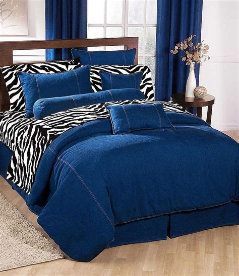 American Denim Comforter Blue Jean Bedding California