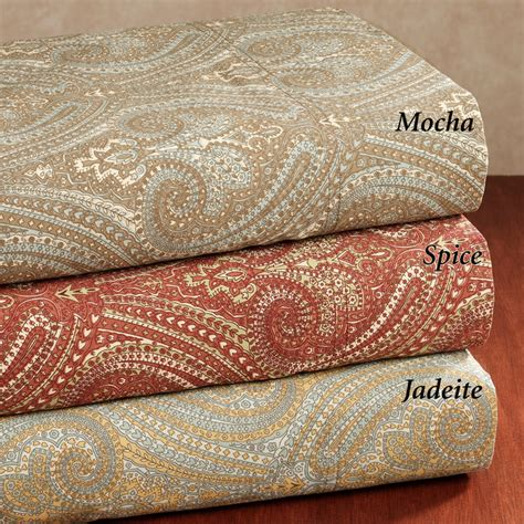 patterned bed sheets 300 thread count tuscan paisley cotton sateen sheet set