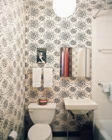 Bathroom Wallpaper Ideas by Fun Wallpaper Modern Bathrooms Lonny