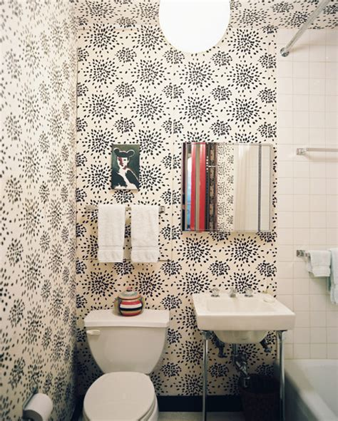 small bathroom wallpaper ideas wallpaper modern bathrooms lonny