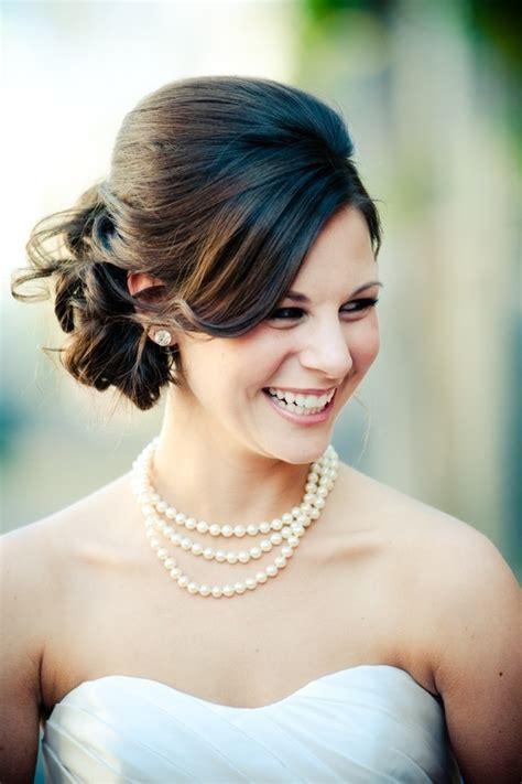 wedding hair updo for 16 beautifully chic wedding hairstyles for medium hair