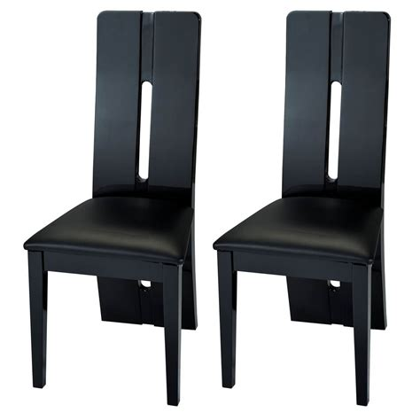 Black Gloss Dining Chairs with Floyd Faux Leather And Black Gloss Dining Chairs Dining Chairs Fads