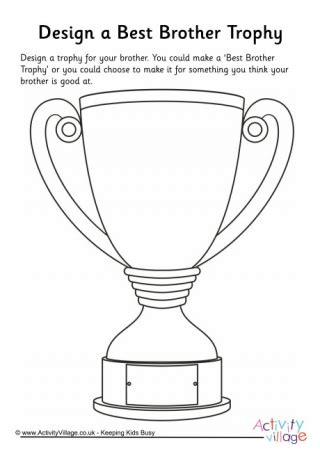 trophy card template free printable awards and medals for classroom and home