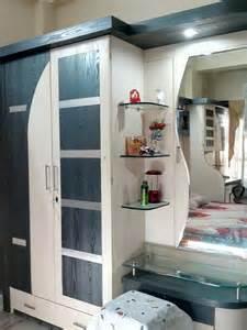 bedroom modern corner wooden almirah