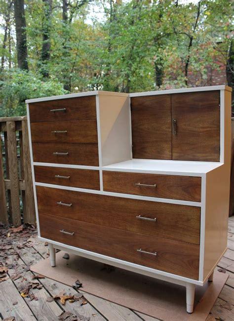 Dresser Vanity Combo Refinished Vintage Drexel Biscayne Dresser Vanity Combo Mid Century Modern Furniture My