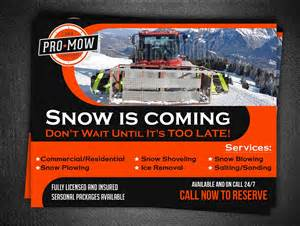 snow removal flyers snow removal flyer design at designcrowd