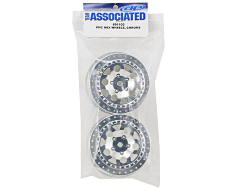 91103 Team Associated Kmc Hex Wheels Chrome Hex object moved