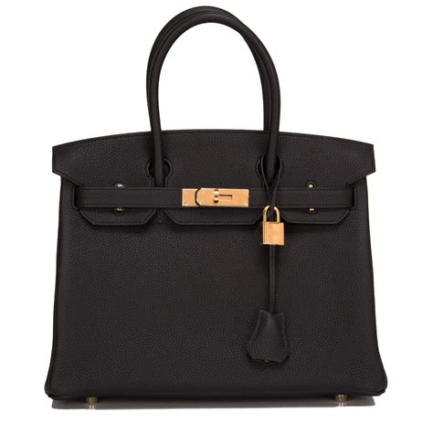 Black Birkin hermes birkin bag 30cm black togo gold hardware world s best