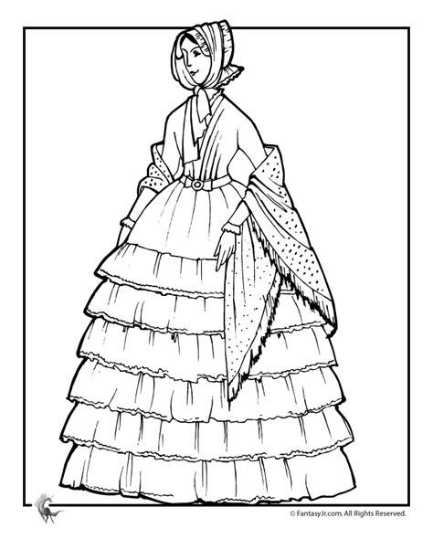 vintage dress coloring page victorian doll with ruffled dress coloring page woo jr