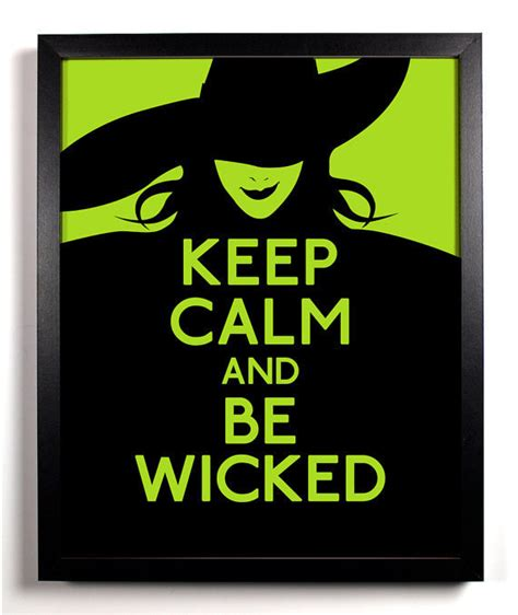 printable wicked poster keep calm and be wicked witch 8 x 10 from